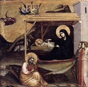 Taddeo Gaddi, Nativity, Fundación Colección Thyssen-Bornemisza, Pedralbes um 1325, (c)Wikicommons JarektuploadBot