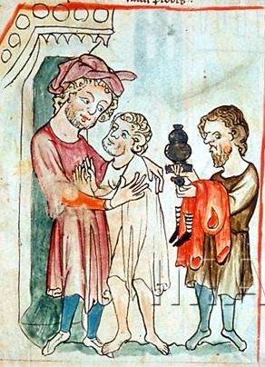 speculum humanae salvationis um 1350-75, wien,gleichnis vom verlorenen sohn,